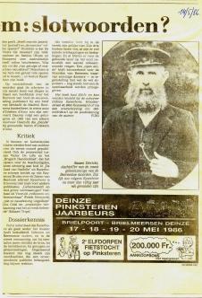 Moorden van Beernem krant JVdC 1986 b