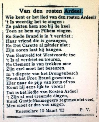 Lied van de Rosten Ardeel (1903)